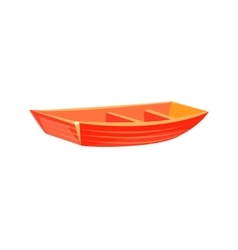 Primitive wooden toy boat vector