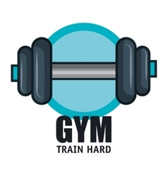 Gym training hard barbell design vector
