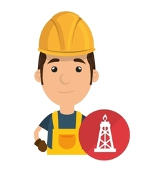 avatar industrial worker vector image