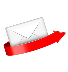 envelope and red arrow vector image