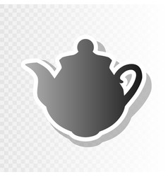 Tea maker sign  new year blackish icon on vector