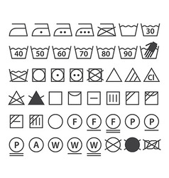 Set of washing symbols vector