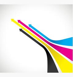 cmyk arrow background vector image