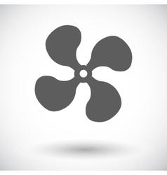 Fan single icon vector image