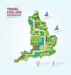 Infographic travel and landmark england vector