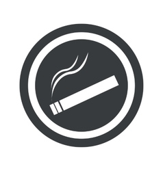 Round black smoking sign vector