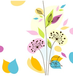 bstract floral background vector image