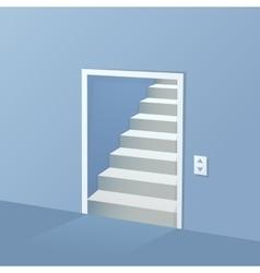 Doorway pass cartoon drawing vector image