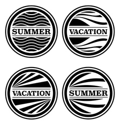Summer and vacation badges vector