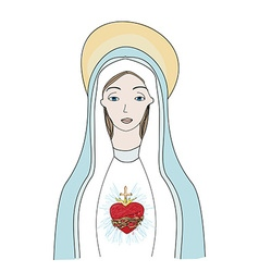 The heart of virgin mary vector