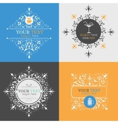 Alcoholic beverage icons vector