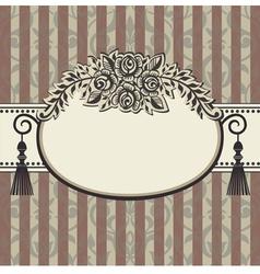 Retro roses vintage vector image