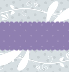Label with floral background vector