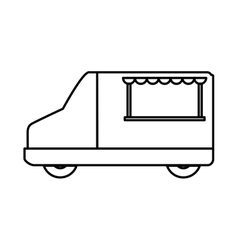 Food truck icon transportation design vector