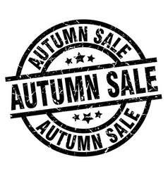 Autumn sale round grunge black stamp vector