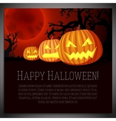 Big halloween banner with of carved vector