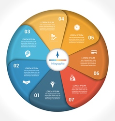 Business pie chart diagram data 7 vector