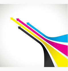 cmyk arrow background vector image vector image