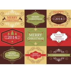 collection of Christmas and New years cards vector image vector image