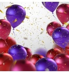Colorful balloon bunch vector