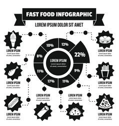 fast food infographic concept simple style vector image