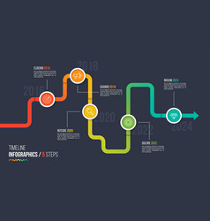 Five steps timeline or milestone infographic chart vector