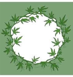 marijuana wreath vector image