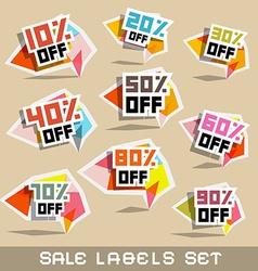 Paper Sale - Discount Labels vector image vector image