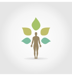 Person a plant vector image