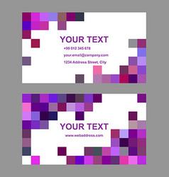 Purple geometric business card template design vector