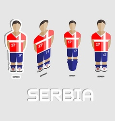 Serbia soccer team sportswear template vector
