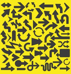 Set of arrows icons symbols vector