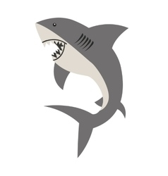 shark signal silhouette icon vector image