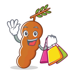 Shopping tamarind character cartoon style vector