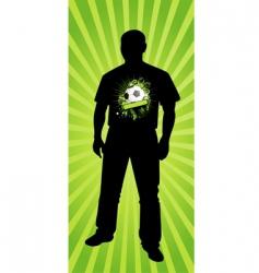 soccer fan vector image