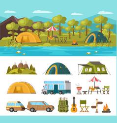 summer outdoor recreation concept vector image vector image