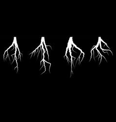 white lightning bolt zig zag on black background vector image