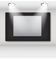 White frames in art gallery ector vector
