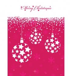 pink Christmas vector image