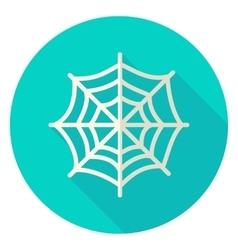 Spider web circle icon vector