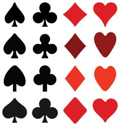 Symbols on playing cards vector