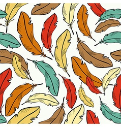 Colorful feather pattern vector image