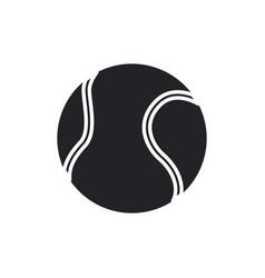 Tennis ball sport play equipment pictogram vector