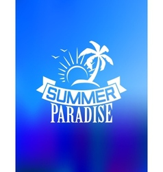 Summer paradise poster vector