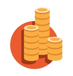 Financial growth concept with stacks of vector