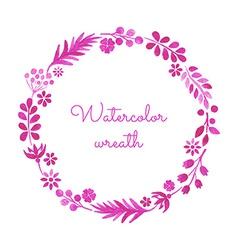 Watercolor wreath vector image