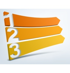 Abstract numbered banners with place for text vector