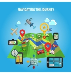 Navigating the journey concept vector
