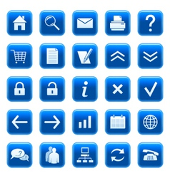 Icons buttons vector