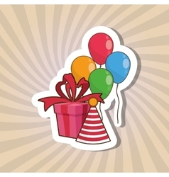 Happy birthday and gift design vector